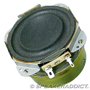2 Technics Panasonic 2 1/2 8Ohm Woofer Subwoofer sheild