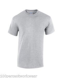 Gildan Short Sleeve Heavy 100/%* Cotton Crew neck t-tshirt men/'s tops tees