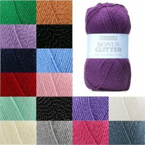 Sirdar-Hayfield-Bonus-Glitter-DK-100g-Ball-Knit-Craft-Double-Knit-Yarn