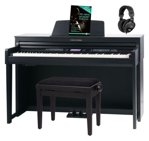 88 Tasten Digital E-Piano Klavier Keyboard 1200 Sound Bluetooth schwarz Set Bank