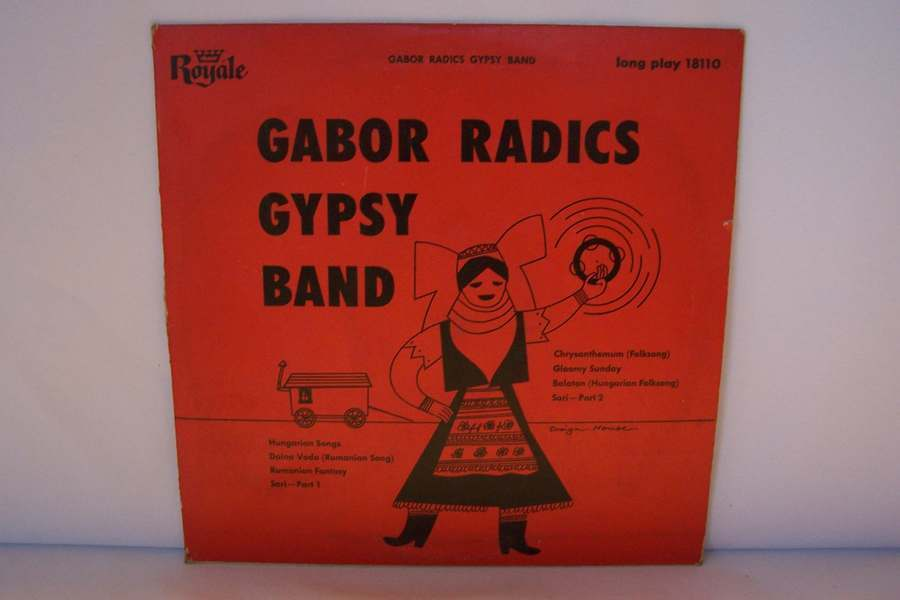 "Gabor Radics Gypsy Band LP 10"" Vinyl Record Album 18110"