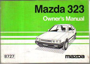 mazda 323 1100 1300 1500 1600 diesel 1985 87 original owners manual rh ebay ie mazda 323 gtx service manual mazda 323 gtx service manual