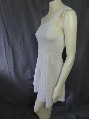 Express sleeveless textured knit fit and flare dress white size M