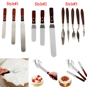 Details about Stainless Steel Preferred Angled Spatula Cake Decorating Tool  Icing Smoother Set