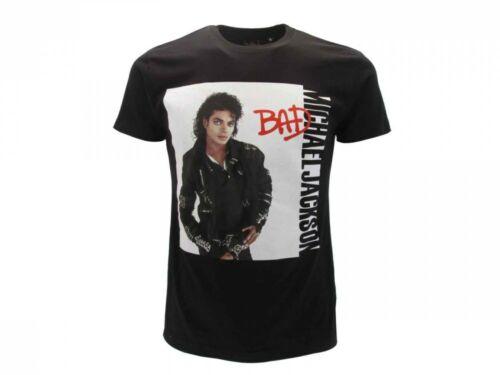 T-Shirt Originale Michael Jackson Ufficiale Maglia Maglietta Bad Nera Jakson