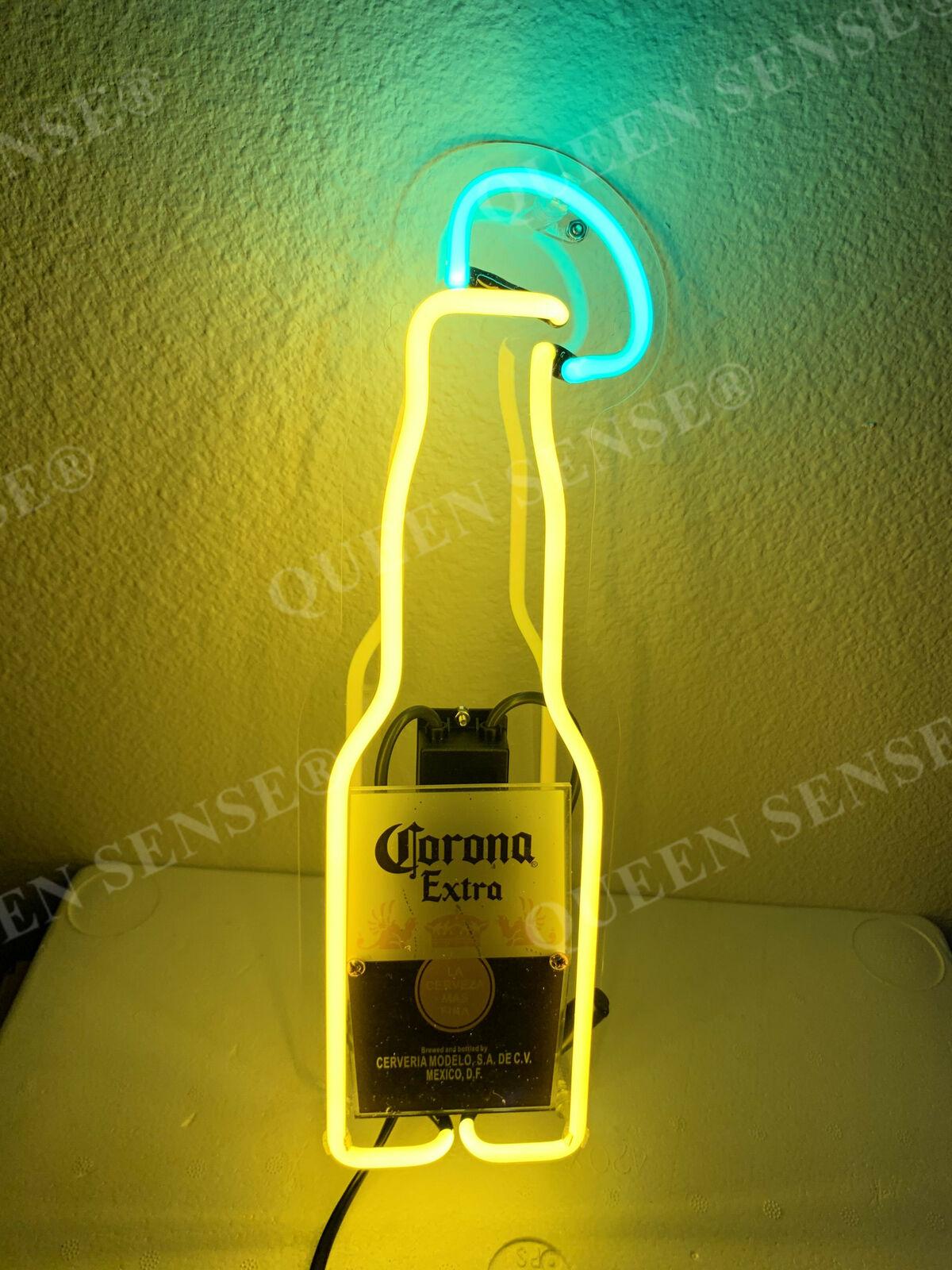 "Corona Extra Beach Chair Palm Tree Neon Light Sign 20/""x16/"" Beer Cave Bar Glass"