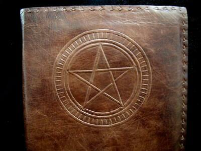 Pagan Wicca Book of Shadows Handmade Refillable Leather Journal A5 TRIQUETRA