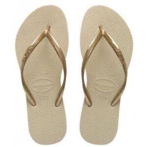 6//7 EUR Havaianas Slim Brazil Women/'s Flip Flops White UK 41//42