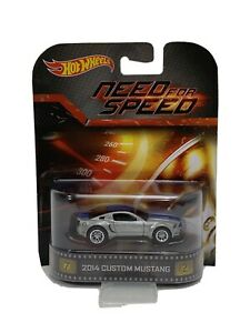 Hot Wheels 2014 Custom Mustang Need For Speed Retro Entertainment 525 Ebay