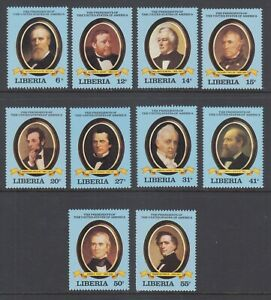 Liberia-Sc-912-921-MNH-1981-US-Presidents-complete-set-VF