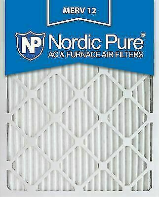 Nordic Pure 12x12x1 Exact MERV 13 Pleated AC Furnace Air Filters 6 Pack