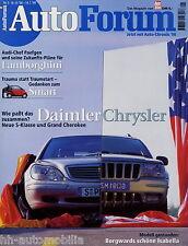 Auto Forum 5 98 1998 Audi TT BMW Z3 Borgward Isabella Chrysler 300M Frontera 2.2