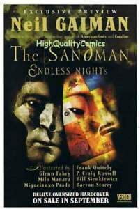 SANDMAN ENDLESS NIGHTS Preview, VF/NM, Vertigo Neil Gaiman, more promos in store
