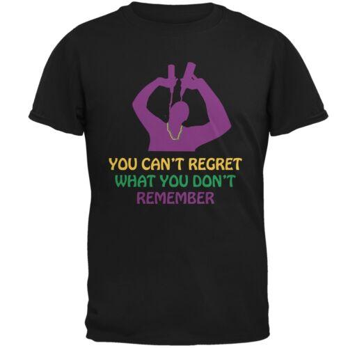 Can/'t Regret Mardi Gras Black Adult T-Shirt