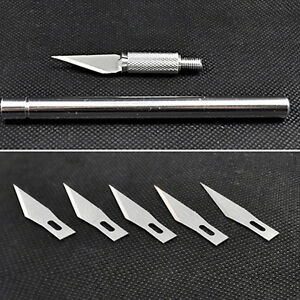 Modern-Wood-Carving-Pen-Paper-Cutter-Sculpting-Cutting-Hand-Craft-Knife-5-Blades