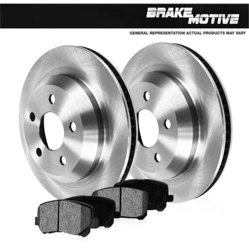 For Cadillac XLR Chevrolet Chevy Corvette Rear Brake Rotors And Metallic Pads