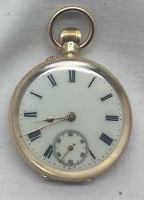 Fabulous Mint Unused Victorian Solid 14k Gold Pocket Watch