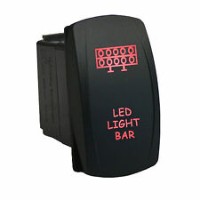 Rocker switch 607R 12V LED LIGHT BAR Laser red 20amp 5 pins