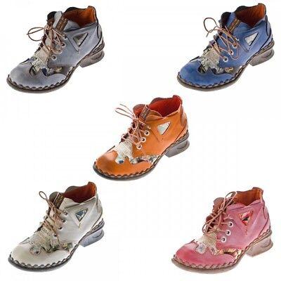 Damen Leder Comfort Knöchel Schuhe TMA 5155 Halb Schuhe Np62N
