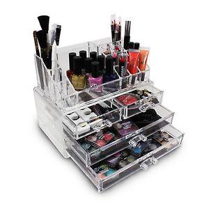 Acrilico-Maquillaje-Organizador-LOVE-Urban-BEAUTY-TRANSPARENTE-Cosmetico-Soporte