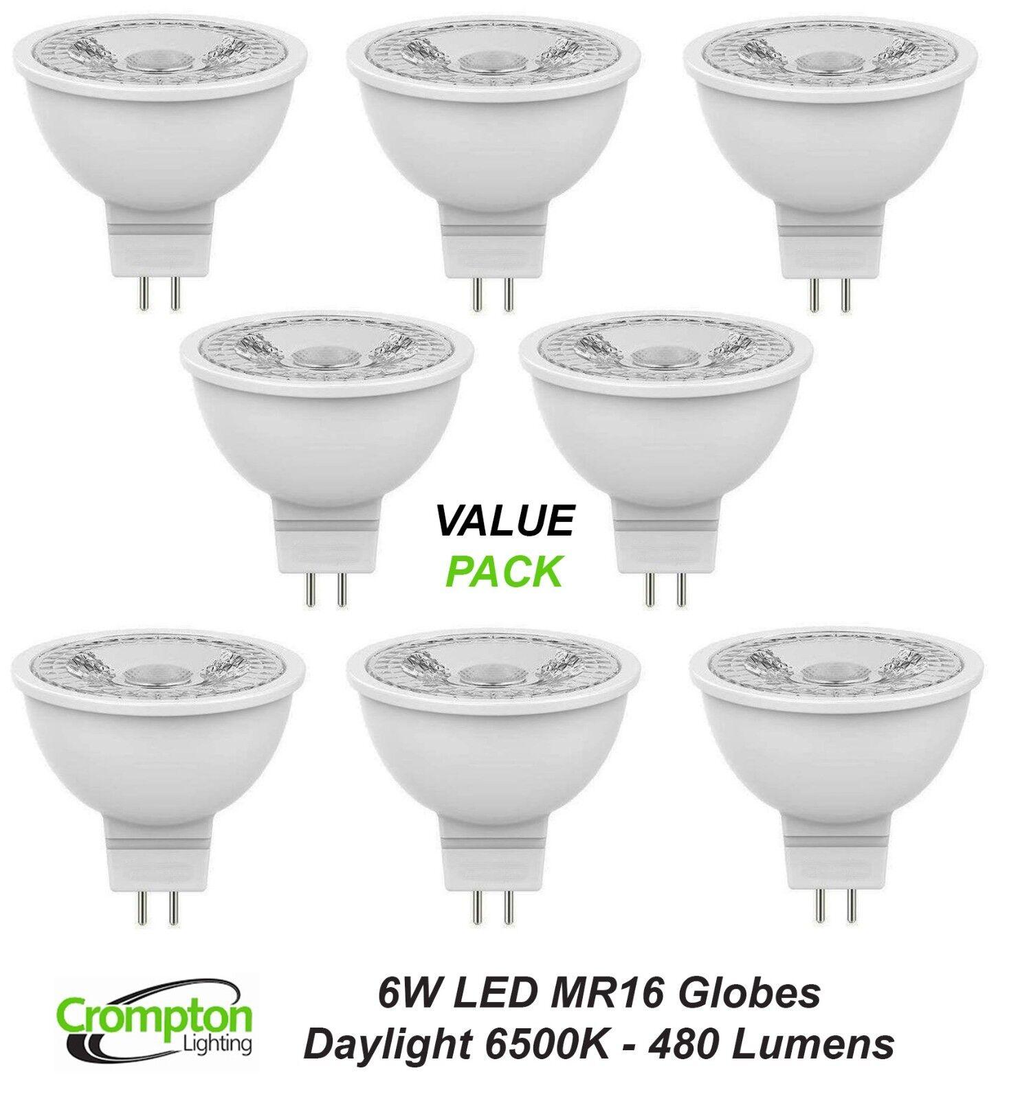 Lámparas Bombillas 6W LED Globos Crompton 12V MR16 blancoo Frío Luz del día 6500K