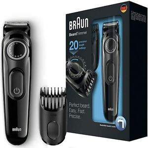 Braun-BT3022-Beard-Hair-Cordless-Rechargeable-Trimmer-Shaver-w-Adjustable-Length