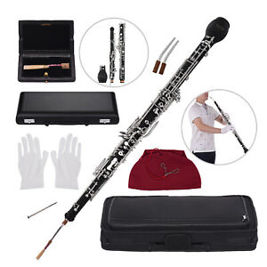 Professional-kit-English-Horn-Alto-Oboe-F-Key-Silver-plated-Keys-E2U0