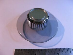 Round-Chromed-Plastic-Channel-Knob-w-Clear-Dial-2-034-Dia-5-8-034-Tall-Used-Pull