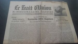 JOURNAL-LE-TRAIT-D-039-UNION-BI-HEBDOMADAIRE-ILLUSTRE-15-SEPT-1940-N-14-ABE