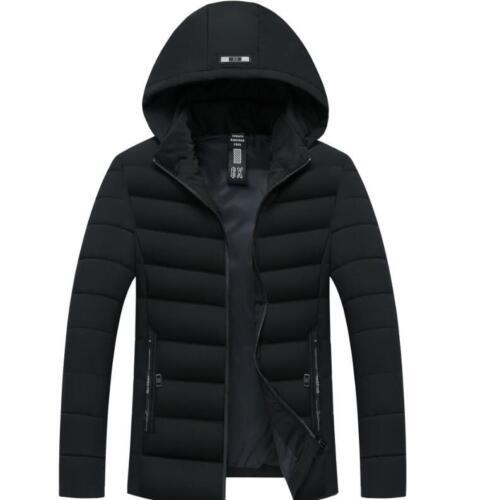 e di vestiti con corto caldo inverno da uomo integrale cappuccio casual completo aderente Cappotto zip 7zw8Aw