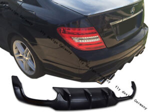 FOR-MERCEDES-C-CLASS-FACELIFT-AMG-PACKAGE-Diffuser-Apron-Rear-Flap-Diffuseur-NEW