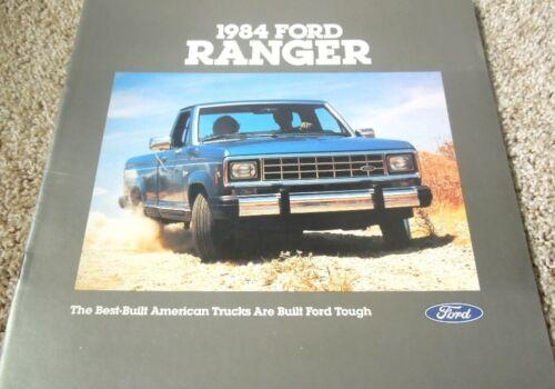 1984 Ford Ranger Pickup Truck XL XLT XLS Standard 20-Page Dealer Sales Brochure