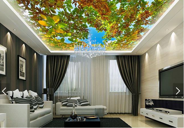 3D Tree Leaves 506 Ceiling WallPaper Murals Wall Print Decal AJ WALLPAPER US