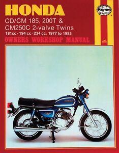 1977 1985 honda cm185 cm200 cm250 cm 185 200 250 twin star haynes rh ebay com honda cm 250 wiring diagram