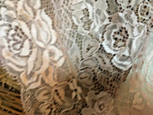 """Beautiful 6.5/""""//16cm Antique Rose Pink Flat Galloon Lace Trim Sewing//Bridal."""