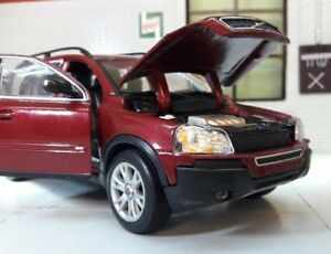 VOLVO-XC90-es-se-T6-D5-AWD-1-24-Rojo-Rubi-2003-Welly-22460-Modelo-Diecast-Sin-Caja