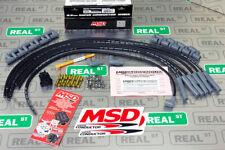 Msd Universal 6 Cylinder 85mm Super Conductor Spark Plug Wire Set Black 31173