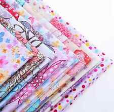 NEW 8pcs BUNDLE pink COTTON FABRIC/MATERIAL FLORAL DOTS Crafts quilting sewing