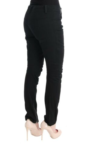 Slim Pantaloni Nera Scervino it44 Cotone Us10 l Nuovo S Ermanno Casual xURTwSYZq