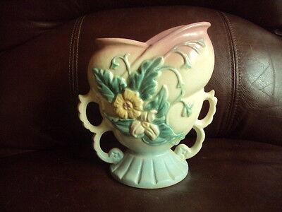 """Vintage Hull 6"""" Wildflower Double Looped Handles Art Pottery Vase  Cute!"""