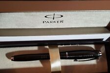 Parker Urban Premium Ebony Metal Chiselled Rollerball pen, Chrome trim,Black NEW