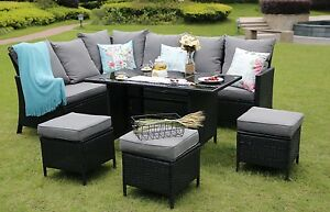 Garden Furniture The Range eton range conservatory rattan garden furniture set 9 seater