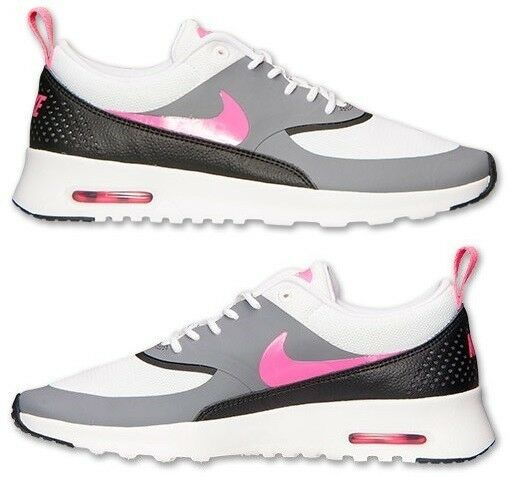 NIKE AIR MAX THEA WOMEN's LEATHER RUNNING WHITE - PINK - GREY - BLACK NEW US SZ
