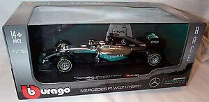 Burago-Mercedes-F1-WO7-hybride-Lewis-Hamilton-1-18-echelle-nouveau-non-ouverte-boite
