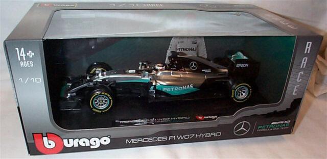 Burago Mercedes F1 WO7 hybride Lewis Hamilton 1.18 échelle nouveau non-ouverte boîte