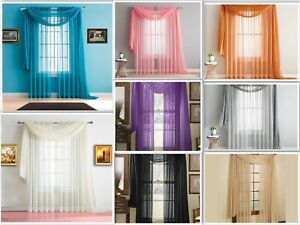 Empire-Home-216-034-Long-Sheer-Curtain-Valance-Window-Scarf-Great-Value-30-Colors