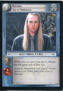 Lord Of The Rings CCG FotR Card 1.U60 Silinde Elf Of Mirkwood