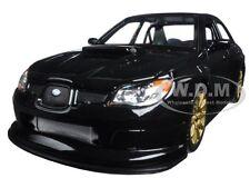 SUBARU IMPREZA WRX STI BLACK 1:24 DIECAST CAR MODEL BY WELLY 22487