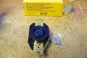 Used Hubbell twistlock receptacle HBL2320 20a 250v 3w 2p NEMA L6-20R