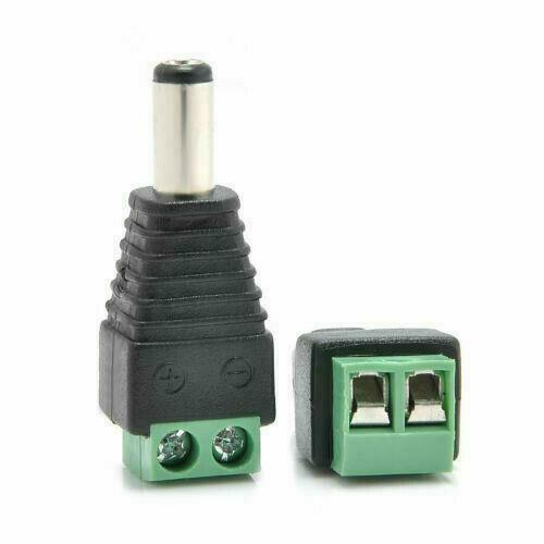 Details about  /12V//24V kit of 2 Male 2 Female DC Power Socket Jack Connector Cable Plug